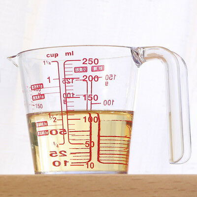 250ml Kitchen Tool Transparent  Acid-corrosion Liquid Measuring Cup With Handle