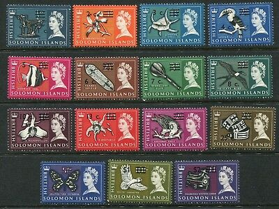 British Solomon Islands: 1966 set 15 stamps to $2 SG135B-52B (not all) MNH AD004