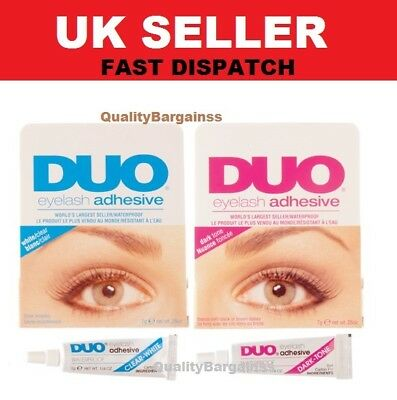 Brand New DUO False Eyelash Lash Glue Adhesive 9g, Dark or Clear, Waterproof UK.