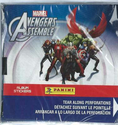 Three Marvel Avengers Assemble Sticker Boxes (50 packs)  & Three Albums