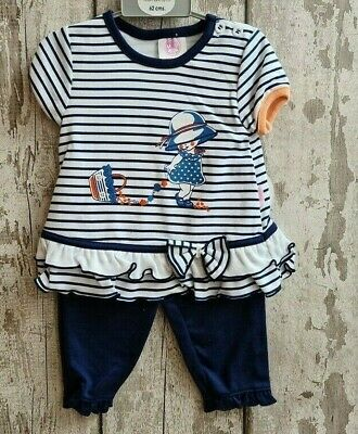Baby Girl Leggings & Top Set by Mini Chic - Outfit.