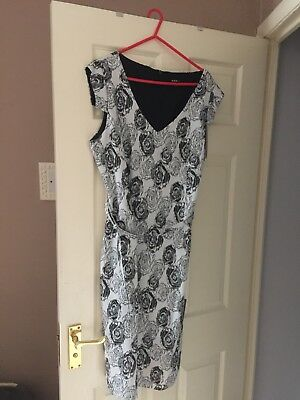 ladies two piece size 18 black and white dress and bolorado jacket