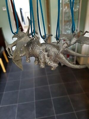 silver dinosaur ornaments! Alternative household decorations, cute,