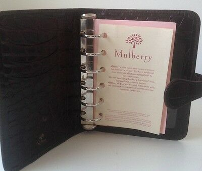 Mulberry Chestnut Brown Nile Leather Pocket Book