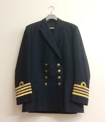 "Royal Navy Captain's Double Breasted Jacket 38"" Chest"