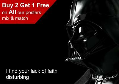Star Wars Darth Vader Quote Poster A5 A4 A3 A2 A1