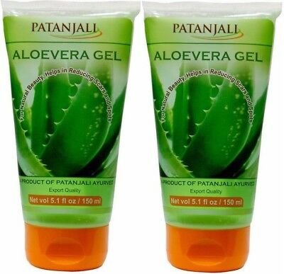 2x150ml Patanjali ALOE VERA Face Gel gives natural glow on face, export quality