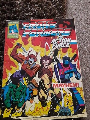 Transformers #239 14Th October 1989 British Weekly Marvel Uk Comic*