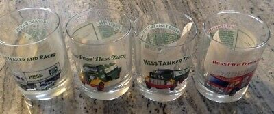 Hess Truck Glasses Set Of 4 Collector's Series