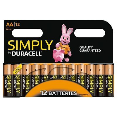 Duracell AA Long Lasting Power Alkaline Batteries Economy MN1500-LR6 - 12-Pack