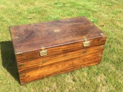 Victorian Camphor Wood Military Campaign Chest