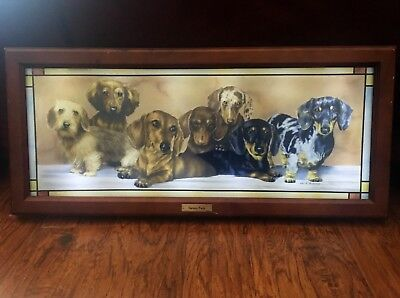 VARIETY PACK Dachshund Dogs Illuminated Stained Glass Panorama by Judi Rideout
