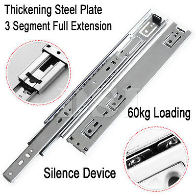 2 x 24'' Heavy Duty 60kg Double Fully Extension Ball Bearing Drawer Slide Runner