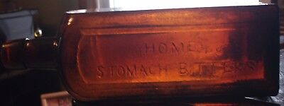 1860's HING MOLD  SQUARE AMBER HOME STOMACH  BITTERS ST.LOUIS. MO