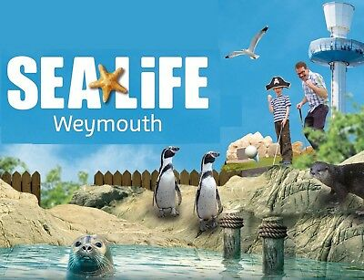 Weymouth Sea Life adventure 2 tickets 15th March
