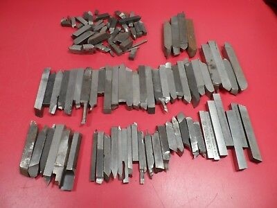 Machinist Tools: Misc Lot of 60+ Used HSS Lathe Tool Bits, Mostly 3/8""