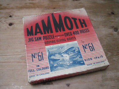 Mammoth Jig saw Puzzle - Empire flying boats - 1930s - boxed