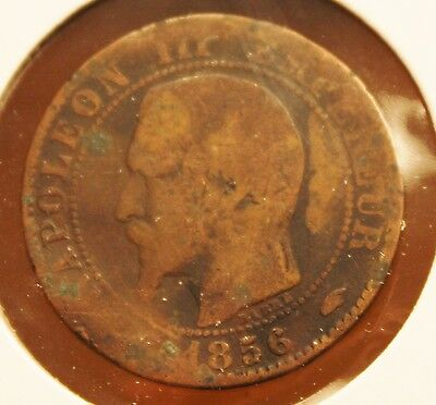 France 1856 A - 5 Centimes- KM #777.4 - Napoleon III - Bronze coin