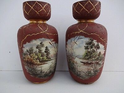 Langley Mill Pottery George Leighton Parkinson,  Moorgreen Resevoir Pair