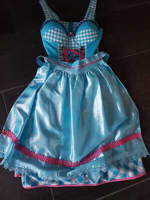 Dirndl Stockerpoint Gr.38 in Blau ärmellos