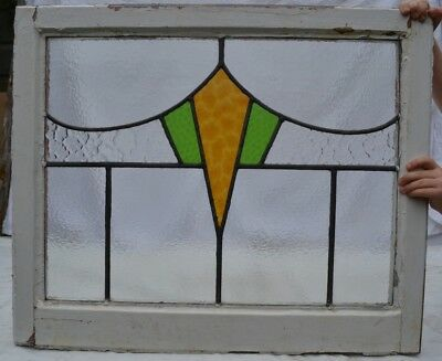 3 art deco leaded light stained glass window panels. R624a. WORLDWIDE DELIVERY!