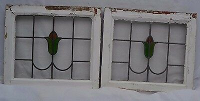2 British leaded light stained glass windows. R589. WORLDWIDE DELIVERY!!!