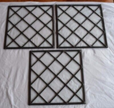 3 NEW Traditionally made leaded light stained glass window panels. R670