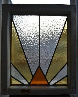 Art deco leaded light stained glass window panel. R638c. WORLDWIDE DELIVERY!