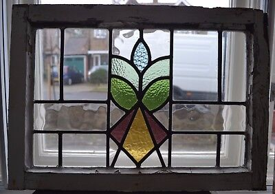 Art deco leaded light stained glass window panel. R270b. WORLDWIDE DELIVERY!!!