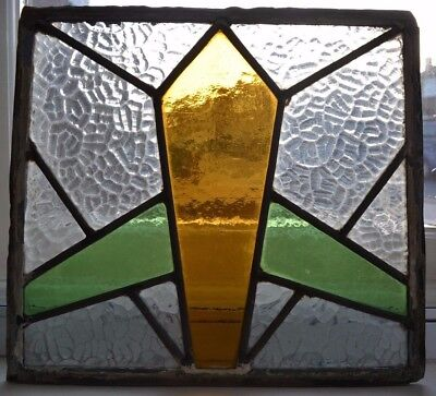 Art deco leaded light stained glass window panel. R139. WORLDWIDE DELIVERY!!!