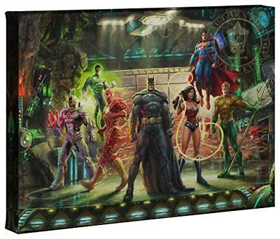 The Justice League 10 x 14 Gallery Wrapped Premium Canvas - No Frame Needed -