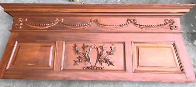 Decorative Wood Panel- Antique- Mantel Top- Historical Salvage