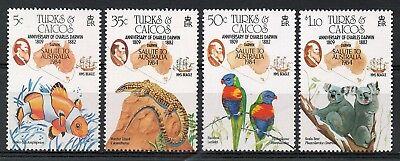 Turks & Caicos : 1984 Anniversary Of Charles Darwin Set Unmounted Mint