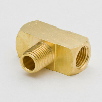 "1/8"" Female NPT to 1/8"" Male NPT Brass Branch Tee Fitting, NEW"
