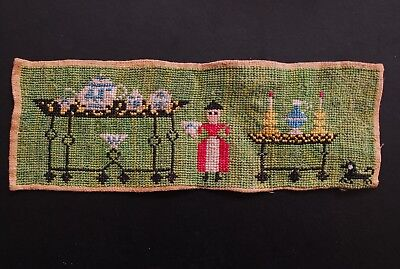 18th century EARLY SAMPLER NAÏVE FOLK ART CHARM small and charming embroidery
