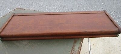 Vintage Oak Barrister Bookcase Top Cap - Label Missing but Likely Globe Wernicke