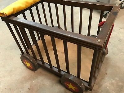 "Vintage Crib/ Toy Cart/ Antique 25-3/4"" x 16-1/2"" x 18-1/2"""