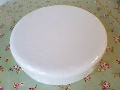 """Round Cake Dummy 12"""" inch Rounded Edge 3"""" depth Brand New Sealed packaging"""