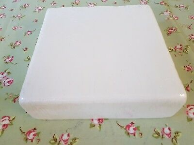 """SQUARE Cake Dummy 8"""" inch Rounded Edge 3"""" depth Brand New Sealed packaging"""