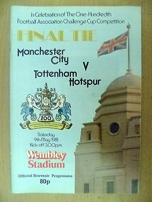 1981 FA CUP FINAL- MANCHESTER CITY v TOTTENHAM HOTSPUR, 9 May (Org*, VG)