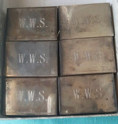 Vintage Tiffany & Co. Sterling Silver .925 Match Box Covers -Lot of 6 *Free Ship