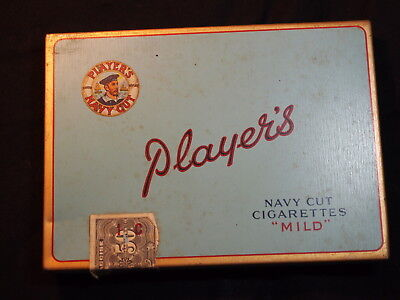 ancien paquet cigarettes PLAYERS MILD plein - ration cigarettes militaires WWII