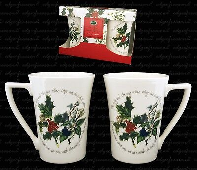 PORTMEIRION HOLLY AND IVY THE HOLLY AND THE IVY SET OF 2 10oz MUG BEAKERS