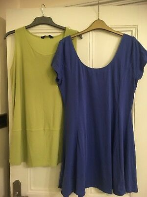 Ladies New Look Dress Size 16 / 18 + FREE Lime Green Tunic