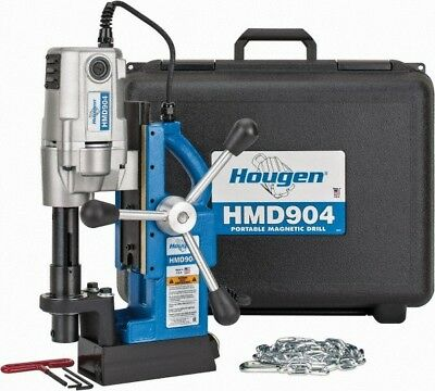 Hougen HMD904 Portable Magnetic Drill complete w/handles and case 115 volt NEW