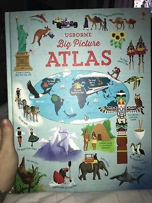 Usborne Big Picture Atlas - Children's Illustrated World Picture Book
