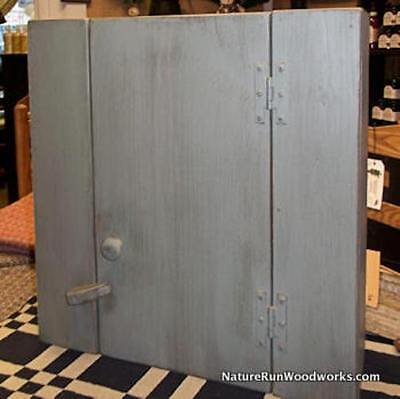 Primitive Handcrafted Deerfield Wall Cupboard-FREE SHIPPING TO LOWER48 STATES