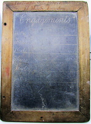 "Victorian Slate ""Engagement Board"" H.M.& S. London The Tempest Slate c.1860's"