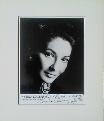 Maria Callas – Hand Signed Photograph (Priced to sell)