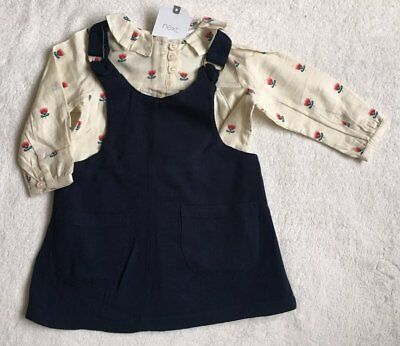 ***BNWT Next baby girl Floral top blouse and dress set 6-9 months***